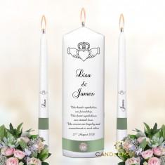 Wedding Unity Candles White - Claddagh.jpg