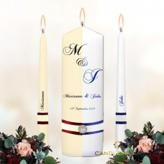 Personalised Wedding Unity Candles White or Ivory - Initials.jpg