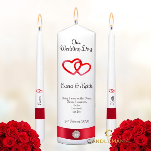 Wedding Unity White Candles Love Hearts Design Red.jpg