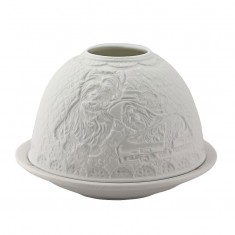 Westie - Glowing Dome Porcelain Tea Light Holder side