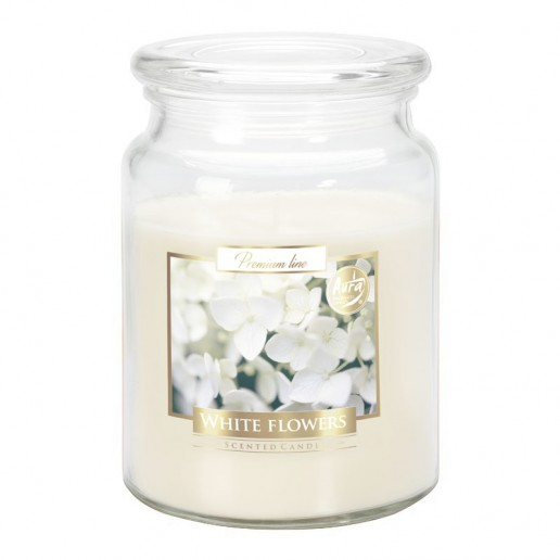 White Flowers - Scented Candle Large Jar Best Smelling Cheap