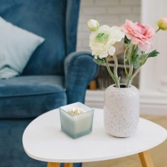 White Flowers Scented Candle lifestyle