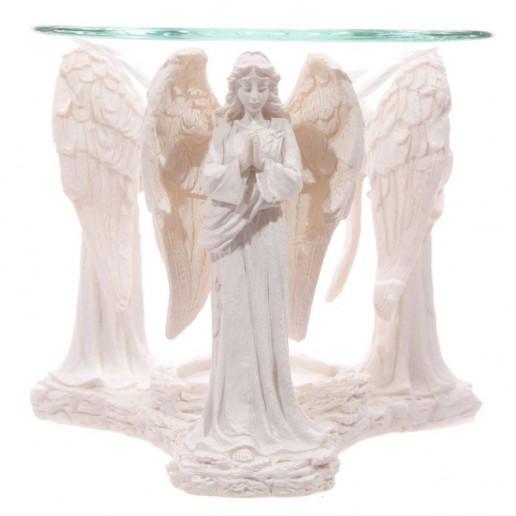 White Praying Angel Figurine Oil Burner