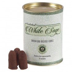 White Sage - Goloka Backflow Incense Cones