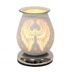 White Satin Angel Wings - Electric Wax Melt Burner