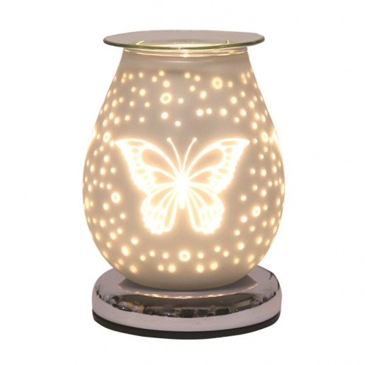 White Satin Butterfly - Electric Wax Melt Burner