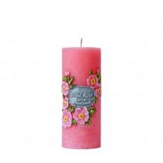 Wild Rose - Scented Handmade Pillar Candle