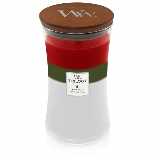 Winter Garland - WoodWick Trilogy Large Jar with wooden lid