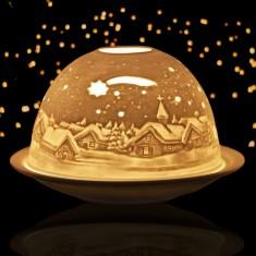 Winter Village - Glowing Dome Porcelain Tea Light Holder