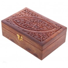 Wooden Box For Essential Oils 24 closed