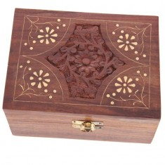 Wooden Box For Essential Oils x12 front