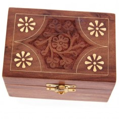 Wooden Box For Essential Oils x6 front